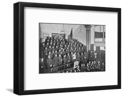 A Salvation Army 'dedication', London, c1903 (1903)-Unknown-Framed Photographic Print