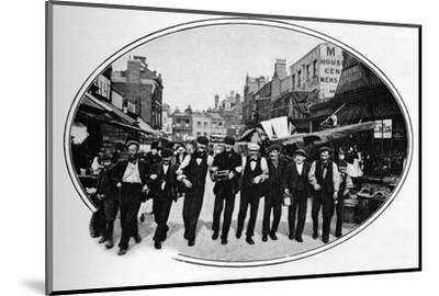Street melody, London, c1901 (1901)-Unknown-Mounted Photographic Print