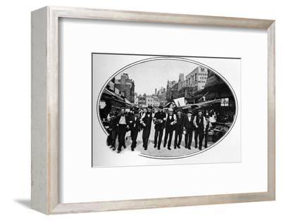 Street melody, London, c1901 (1901)-Unknown-Framed Photographic Print