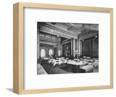 Coffee room of the Carlton Club, London, c1900 (1901)-Unknown-Framed Photographic Print