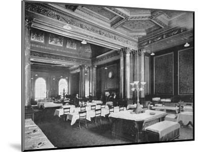 Coffee room of the Carlton Club, London, c1900 (1901)-Unknown-Mounted Photographic Print