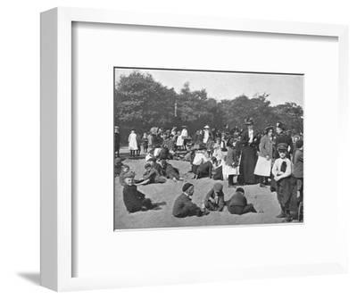 The sandpit, Victoria Park, London, c1900 (1901)-Unknown-Framed Photographic Print