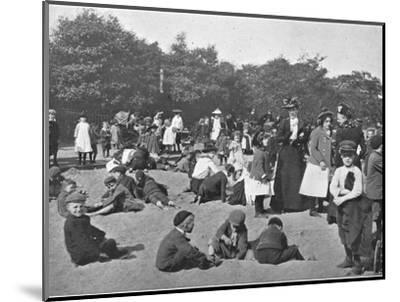 The sandpit, Victoria Park, London, c1900 (1901)-Unknown-Mounted Photographic Print
