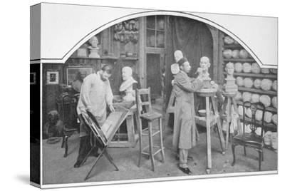 Preparing models at Madame Tussaud's, London, c1903 (1903)-Unknown-Stretched Canvas Print