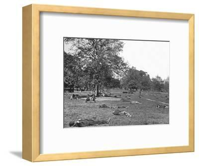 A summer afternoon scene in St James's Park, London, c1900 (1901)-Unknown-Framed Photographic Print