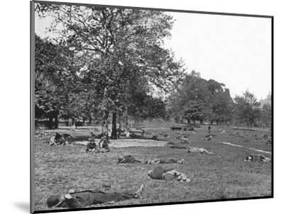 A summer afternoon scene in St James's Park, London, c1900 (1901)-Unknown-Mounted Photographic Print
