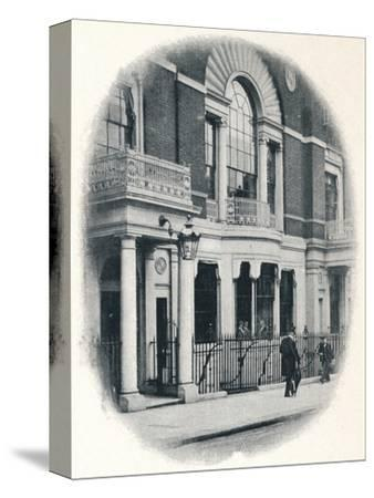 The bay window, Boodle's Club, London, c1900 (1901)-Unknown-Stretched Canvas Print