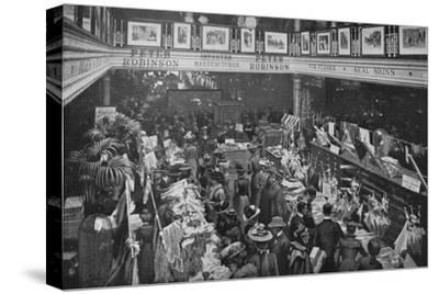 A sale day at Peter Robinson's department store, Oxford Street, London, c1903-Unknown-Stretched Canvas Print