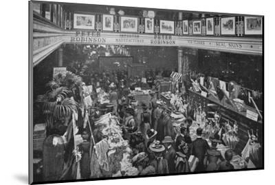 A sale day at Peter Robinson's department store, Oxford Street, London, c1903-Unknown-Mounted Photographic Print