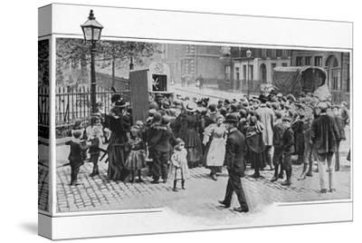 Punch and Judy show, London, c1903 (1903)-Unknown-Stretched Canvas Print