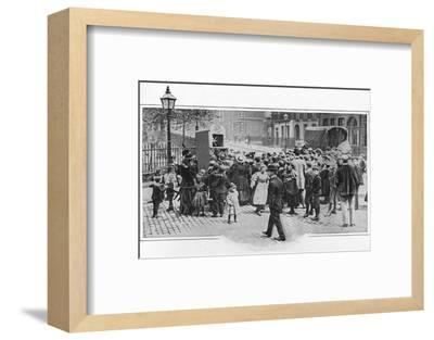 Punch and Judy show, London, c1903 (1903)-Unknown-Framed Photographic Print