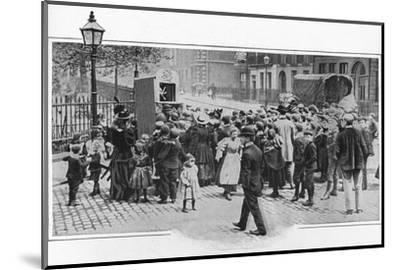 Punch and Judy show, London, c1903 (1903)-Unknown-Mounted Photographic Print