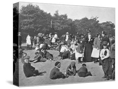 The sandpit, Victoria Park, London, c1900 (1901)-Unknown-Stretched Canvas Print