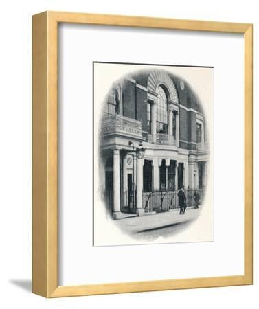 The bay window, Boodle's Club, London, c1900 (1901)-Unknown-Framed Photographic Print
