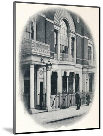 The bay window, Boodle's Club, London, c1900 (1901)-Unknown-Mounted Photographic Print