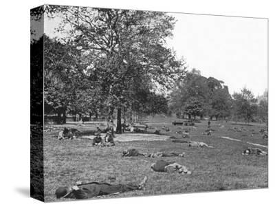 A summer afternoon scene in St James's Park, London, c1900 (1901)-Unknown-Stretched Canvas Print