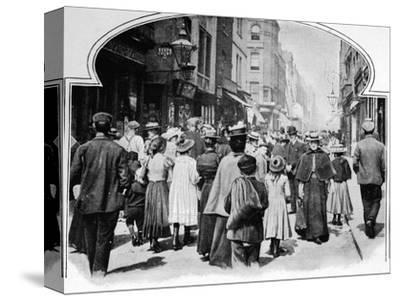 Berwick Street on a Sunday morning, c1901 (1901)-Unknown-Stretched Canvas Print