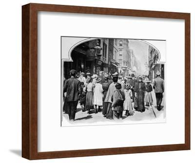 Berwick Street on a Sunday morning, c1901 (1901)-Unknown-Framed Photographic Print