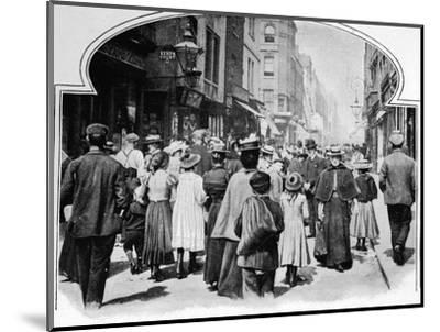 Berwick Street on a Sunday morning, c1901 (1901)-Unknown-Mounted Photographic Print