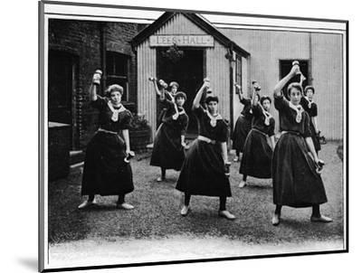 Physical drill at Canning Town Women's Settlement, London, c1901 (1901)-Unknown-Mounted Photographic Print
