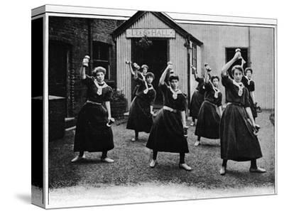 Physical drill at Canning Town Women's Settlement, London, c1901 (1901)-Unknown-Stretched Canvas Print