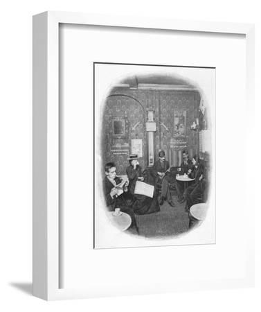 An Arab café, London, c1901 (1901)-Unknown-Framed Photographic Print