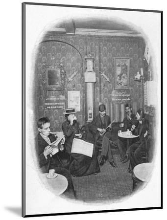 An Arab café, London, c1901 (1901)-Unknown-Mounted Photographic Print