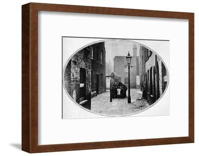 Ripe for eviction, London, c1901 (1901)-Unknown-Framed Photographic Print