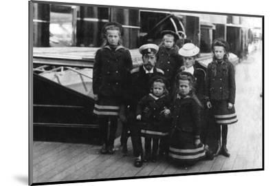 Tsar Nicholas II and Tsarina Alexandra of Russia and their children, 1907-Unknown-Mounted Photographic Print