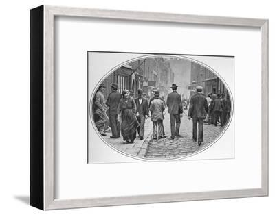 Main street of the Italian community, Clerkenwell, London, c1900 (1901)-Unknown-Framed Photographic Print