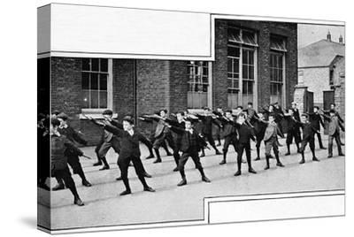 Physical drill at a London school, c1900 (1901)-Unknown-Stretched Canvas Print
