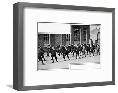 Physical drill at a London school, c1900 (1901)-Unknown-Framed Photographic Print