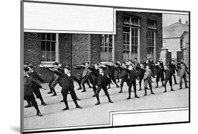 Physical drill at a London school, c1900 (1901)-Unknown-Mounted Photographic Print