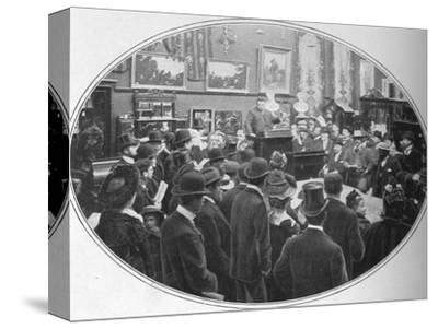 Auction in progress at Phillips auctioneers, London, c1901 (1901)-Unknown-Stretched Canvas Print