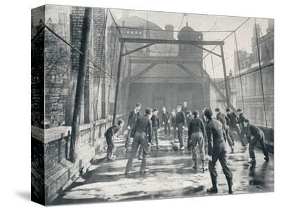 Boys playing football on the roof of St Paul's Cathedral Choir School, London, c1901-Unknown-Stretched Canvas Print