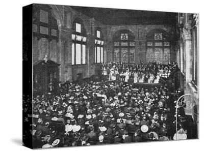 A concert at the Guildhall School of Music, London, c1901 (1901)-Unknown-Stretched Canvas Print