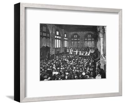 A concert at the Guildhall School of Music, London, c1901 (1901)-Unknown-Framed Photographic Print