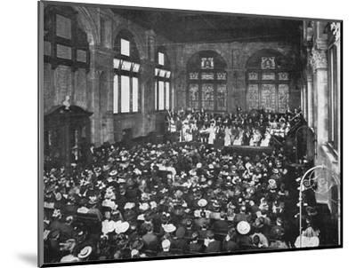 A concert at the Guildhall School of Music, London, c1901 (1901)-Unknown-Mounted Photographic Print