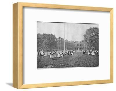 In the Foundling Hospital grounds, London, c1901 (1901)-Unknown-Framed Photographic Print