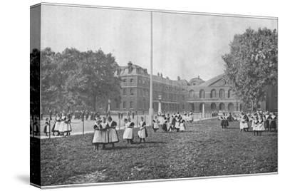 In the Foundling Hospital grounds, London, c1901 (1901)-Unknown-Stretched Canvas Print