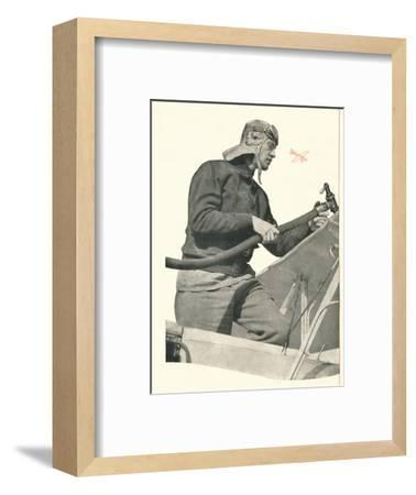 'C.W.A. Scott talks to London: If You Are A Fly-By-Night, Take Off With Booth's', c1935-Unknown-Framed Photographic Print