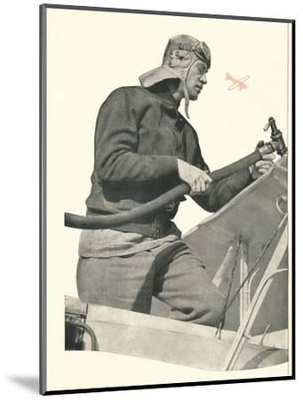 'C.W.A. Scott talks to London: If You Are A Fly-By-Night, Take Off With Booth's', c1935-Unknown-Mounted Photographic Print