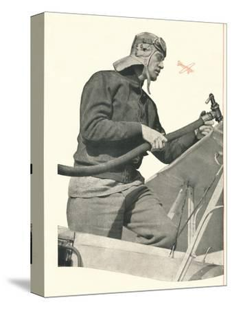 'C.W.A. Scott talks to London: If You Are A Fly-By-Night, Take Off With Booth's', c1935-Unknown-Stretched Canvas Print