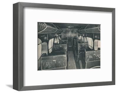 Cabin of a De Havilland DH86B biplane, c1934 (c1937)-Unknown-Framed Photographic Print