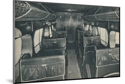 Cabin of a De Havilland DH86B biplane, c1934 (c1937)-Unknown-Mounted Photographic Print