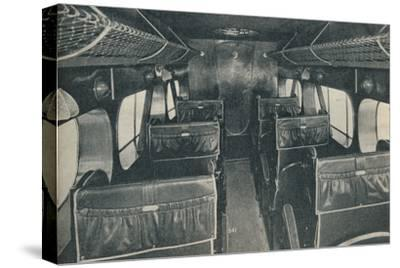 Cabin of a De Havilland DH86B biplane, c1934 (c1937)-Unknown-Stretched Canvas Print