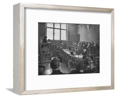 A coroner's inquest, London, c1901 (1901)-Unknown-Framed Photographic Print