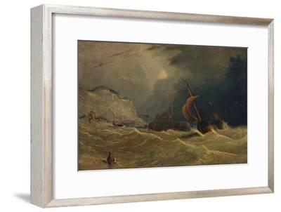 'Stormy Seascape', c1830, (1938)-Unknown-Framed Giclee Print