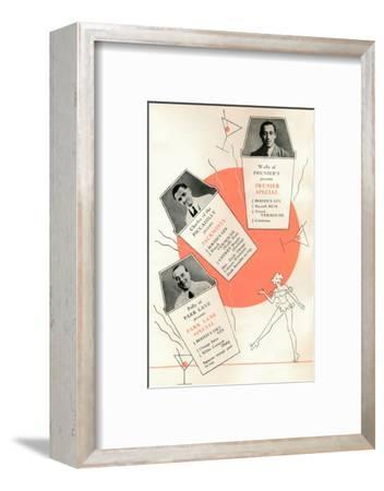 'Cocktail recipes', c1935 (1935)-Unknown-Framed Photographic Print