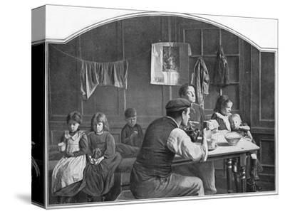 Old room in Slumland, London, c1900 (1901)-Unknown-Stretched Canvas Print